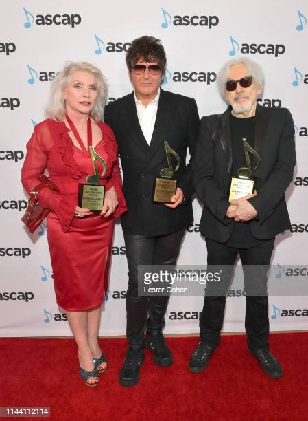 Clem Burke Debbie Harry and Chris Stein of Blondie attend the ASCAP 2019 Pop Music Awards at The Beverly Hilton Hotel on May 16 2019 in Beverly Hills...