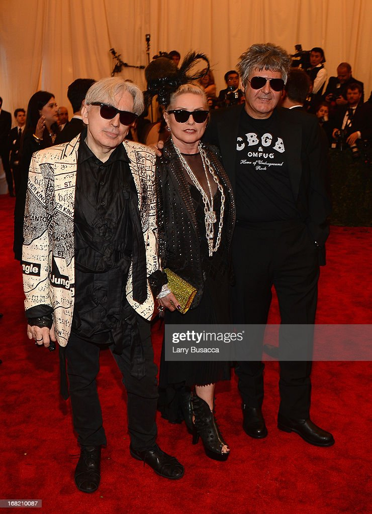 Clem Burke, Debbie Harry and Chris Stein of Blondie attend the Costume Institute Gala for the 'PUNK: Chaos to Couture' exhibition at the Metropolitan Museum of Art on May 6, 2013 in New York City.