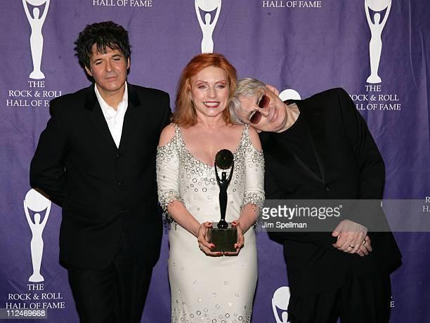 Clem Burke Debbie Harry and Chris Stein of Blondie inductees