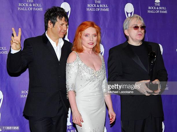 Clem Burke, Debbie Harry and Chris Stein of Blondie, inductees