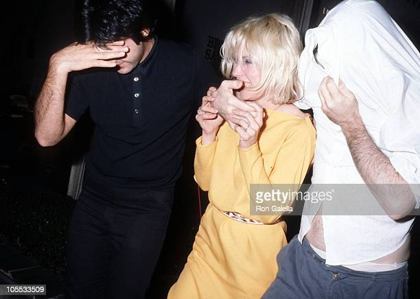 Clem Burke Deborah Harry and Chris Stein during Blondie Sighting at La Dome in New York City September 19 1979 at La Dome in New York City New York...
