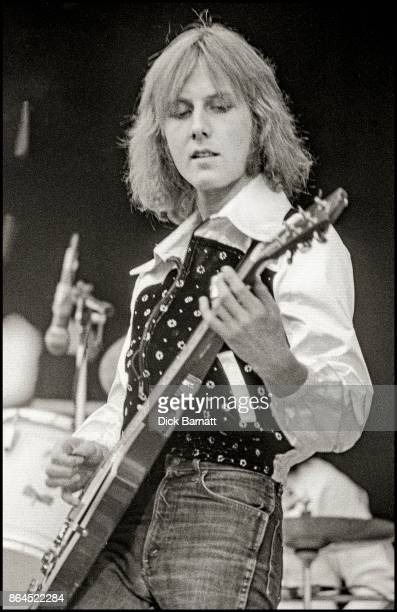 Clem Clempson of Humble Pie performs on stage at Charlton Athletic football ground 18th May 1974