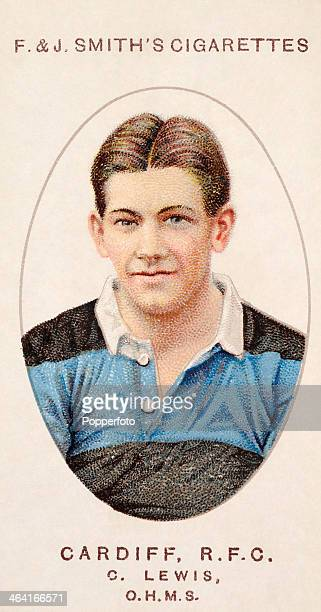 Clem Lewis of Cardiff RFC featured on a vintage cigarette card published in London circa 1917