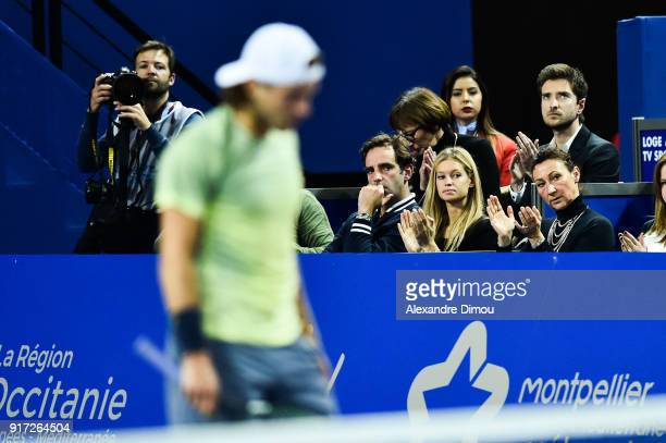 Clemence Bertrand girlfiend of Lucas Pouille of France during the Final Open Sud of France ATP Montpellier on February 11 2018 in Montpellier France