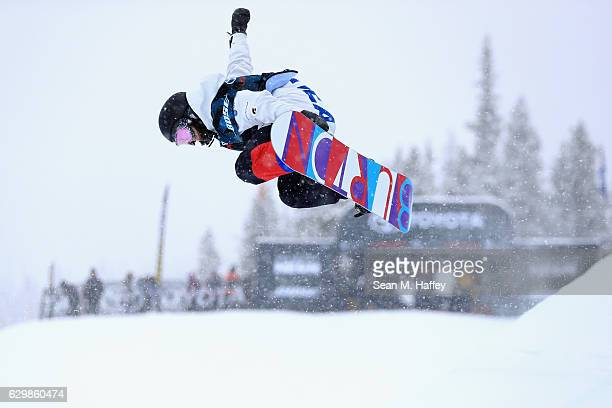 Clemence Grimal of France competes in the qualifying round for the 2017 US Snowboarding Grand Prix at Copper Mountain on December 14 2016 in Copper...