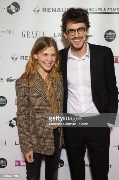Clemence Poesy and Hugo Gelin attend the 'Trophees Du Film Francais' 24th Ceremony at Palais Brongniart on February 2 2017 in Paris France