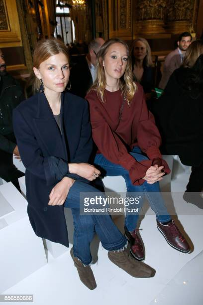 Clemence Poesy and Ludivine Sagnier attend the Stella McCartney show as part of the Paris Fashion Week Womenswear Spring/Summer 2018 on October 2,...