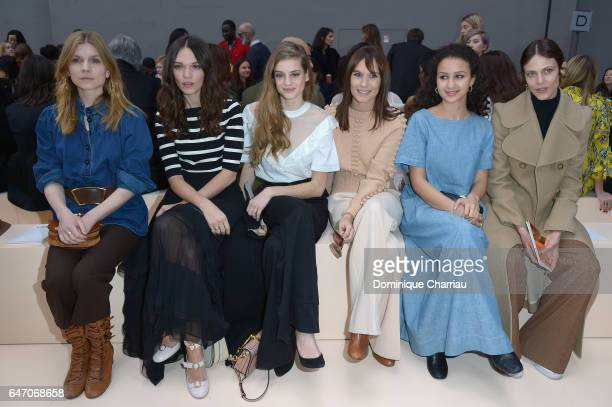 Clemence Poesy Anna Brewster Noemie Schmidt Ana Girardot Oulaya Amamra and Aymeline Valade attend the Chloe show as part of the Paris Fashion Week...