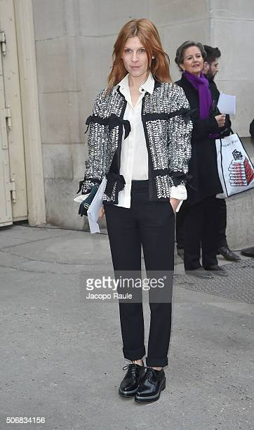 Clemence Poesy arrives at the Chanel fashion show Paris Fashion Week Haute Coture Spring /Summer 2016 on January 26 2016 in Paris France