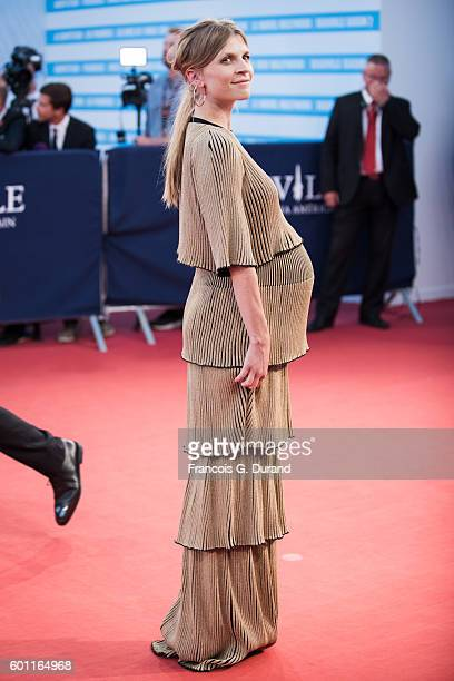 Clemence Poesy arrives at the 'Imperium' Premiere during the 42nd Deauville American Film Festival on September 9 2016 in Deauville France