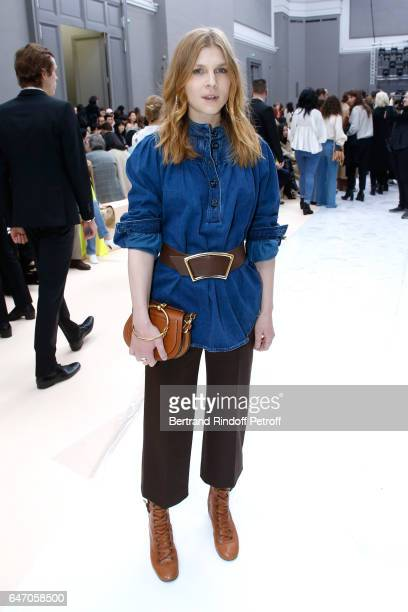 Clemence Poesy attends the Chloe show as part of the Paris Fashion Week Womenswear Fall/Winter 2017/2018 on March 2 2017 in Paris France