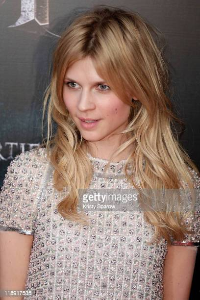 Clemence Poesy attends the 'Harry Potter and the Deathly Hallows Part 2' premiere at Palais Omnisports de Bercy on July 12 2011 in Paris France