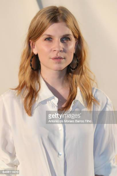 Clemence Poesy attends the HM Studio show as part of the Paris Fashion Week on March 1 2017 in Paris France