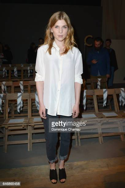 Clemence Poesy attends the HM Studio show as part of the Paris Fashion Week> on March 1 2017 in Paris France