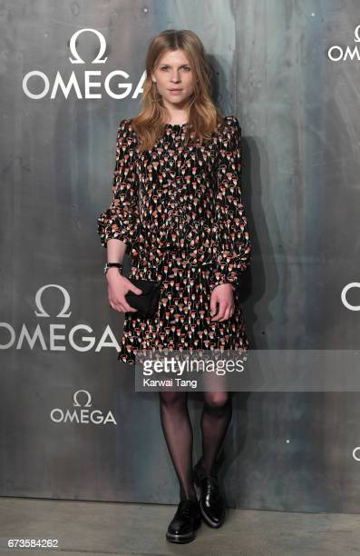 Clemence Poesy attends the Lost In Space event to celebrate the 60th anniversary of the OMEGA Speedmaster at the Tate Modern on April 26 2017 in...