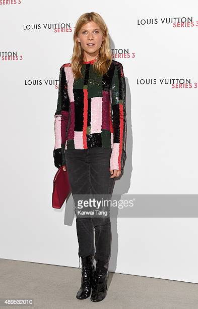 Clemence Poesy attends the Louis Vuitton Series 3 VIP Launch on September 20 2015 in London England