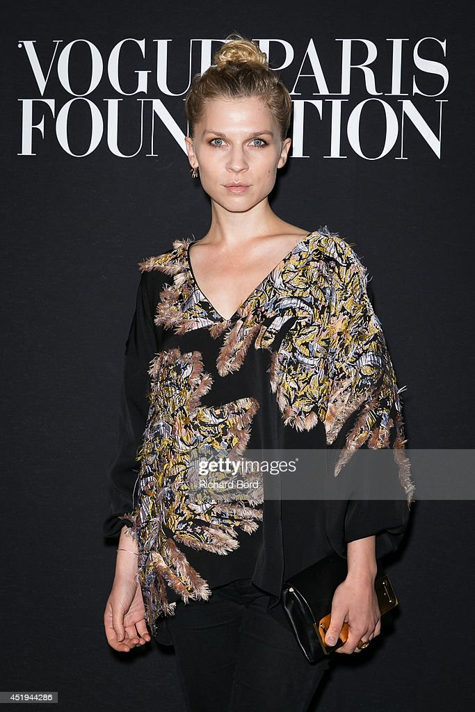 Clemence Poesy attends the Vogue Foundation Gala as part of Paris Fashion Week at Palais Galliera on July 9, 2014 in Paris, France.