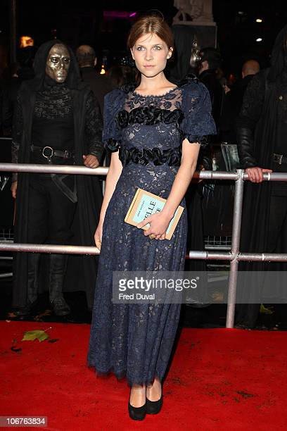 Clemence Poesy attends the world premiere of Harry Potter and The Deathly Hallows Part 1 at Odeon Leicester Square on November 11 2010 in London...