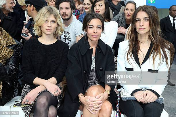 Clemence Poesy Elodie Bouchez and Joana Preiss attend the Chanel show as part of the Paris Fashion Week Womenswear Fall/Winter 20142015 on March 4...