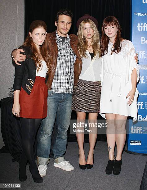 Clemence Poesy Kate Mara James Franco and Amber Tamblyn attend the '127 Hours' press conference during the 2010 Toronto International Film Festival...