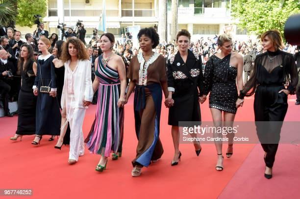 Clemence Poesy , Leila Bekhti , Houda Benyamina, Jasmine Trinca ,Celine Sallette , Clotilde Courau and other filmmakers walk the red carpet in...