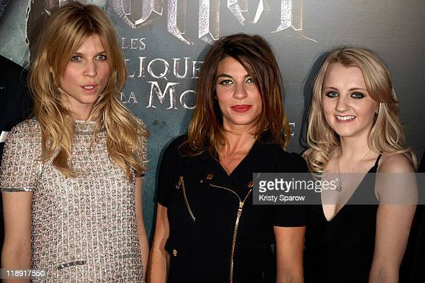Clemence Poesy Natalia Tena and Evanna Lynch attend the 'Harry Potter and the Deathly Hallows Part 2' premiere at Palais Omnisports de Bercy on July...