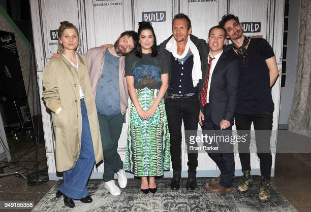 Clemence Poesy Seth Gabel Samantha Colley Sebastian Roche TR Knight and Robert Sheehan of Genius Picasso attends Celebrities Visit Build at Build...