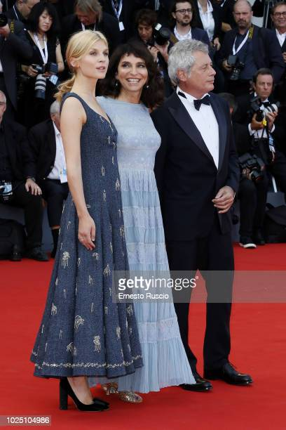 Clemence Poesy Susanne Bier and Alessandro Baricco walk the red carpet ahead of the opening ceremony and the 'First Man' screening during the 75th...