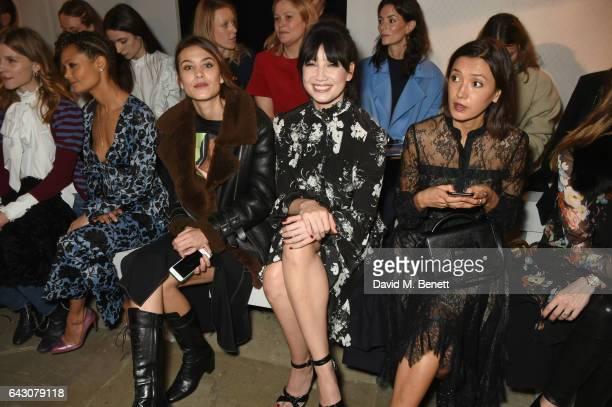 Clemence Poesy Thandie Newton Alexa Chung Daisy Lowe and Hikari Yokoyama attend the ERDEM show during the London Fashion Week February 2017...