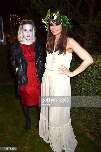 Clemence Quelennec and Clara Luciani of La Femme perform during the Veillee Foodstock Party 2nd Night At MAC/VAL on May 4 2012 in Vitry sur Seine...