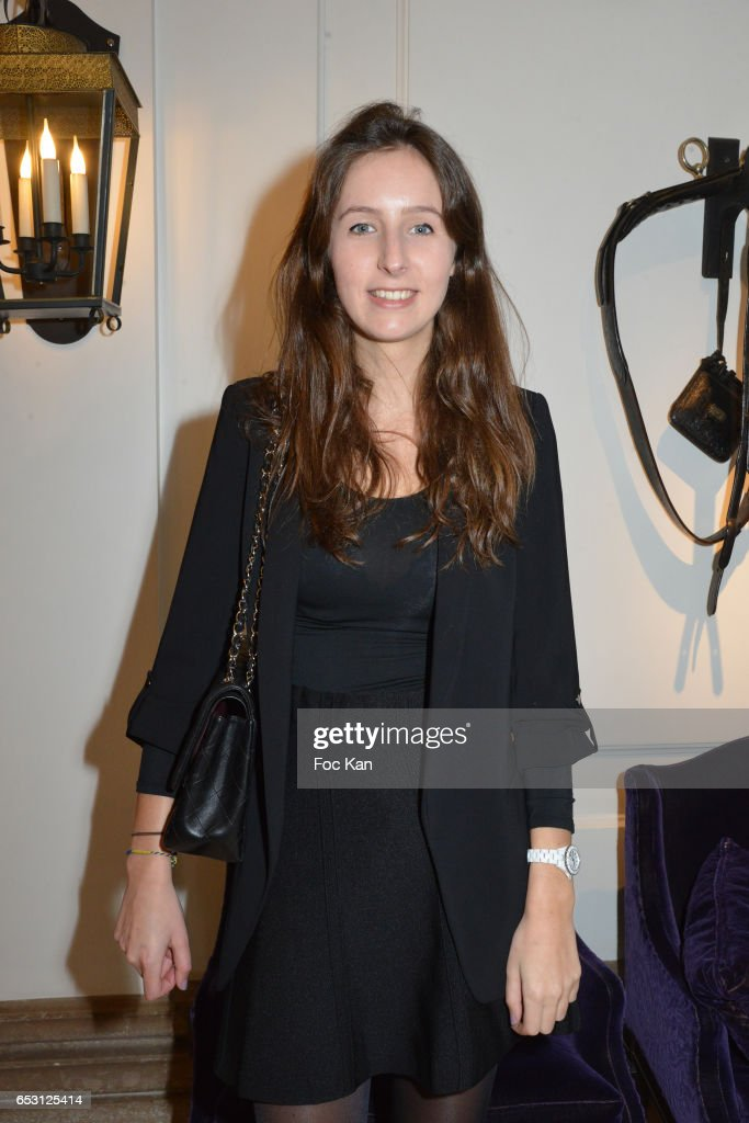 Clemence Rochefort (daughter of actor Jean Rochefort) attends William Arlotti Show at Hotel Lancaster Hosted by Domaine de La Croix wines on March 13, 2017 in Paris, France.