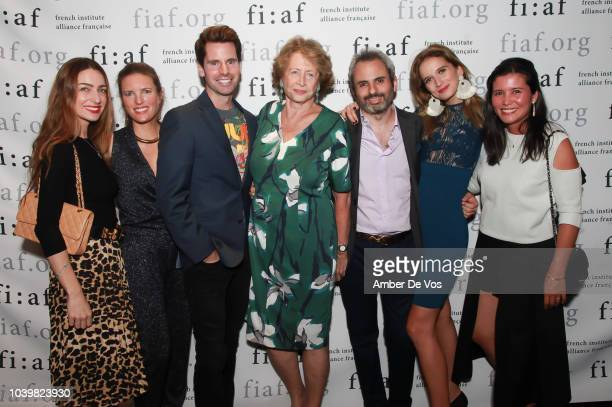 Clemence von Mueffling James G Brooks Marie Monique Steckel Patricia de Picciotto Nicholas Coblence and Stephanie Arsham attend the FIAF's Young...