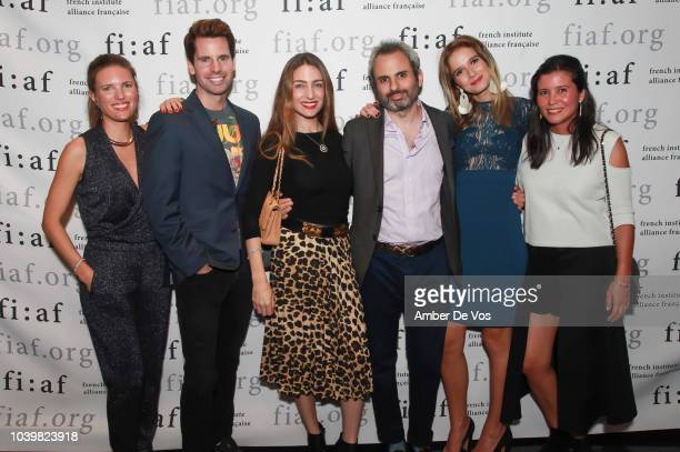 Clemence von Mueffling James G Brooks Patricia de Picciotto Nicholas Coblence and Stephanie Arsham attend the FIAF's Young Patrons Fall Fete at FIAF...