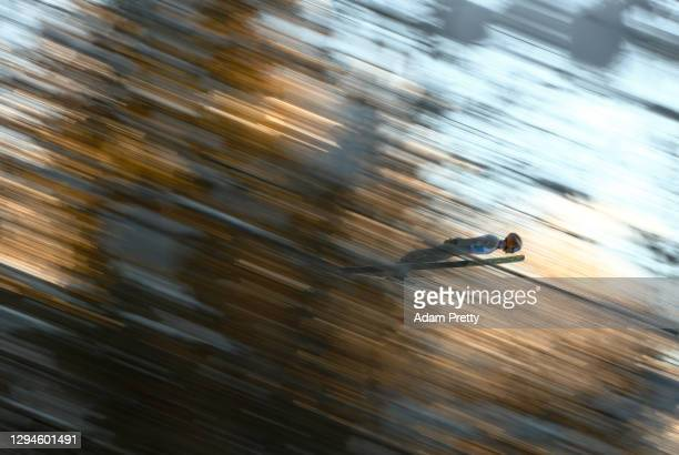 Clemens Leitner of Austria competes during the practice round prior to the Qualification at the Four Hills Tournament 2020 Bischofshofen at on...