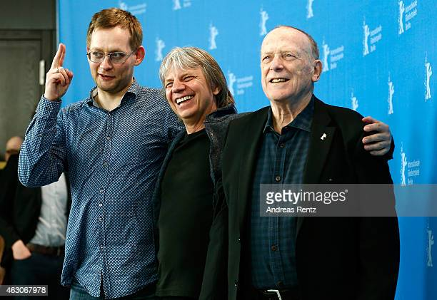 Clemens Meyer, Andreas Dresen and Wolfgang Kohlhaase attend the 'As We Were Dreaming' photocall during the 65th Berlinale International Film Festival...