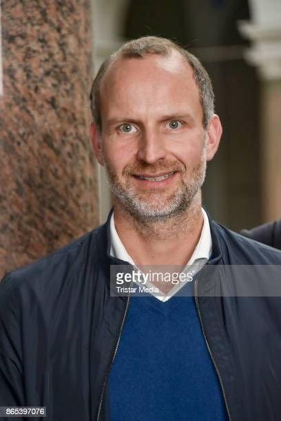 Clemens Schaeffer during the photo call to Michel Houellebecqs novel 'Unterwerfung' on October 23 2017 in Berlin Germany
