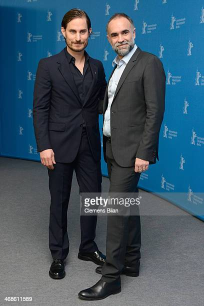 Clemens Schick and director Karim Ainouz attend the 'Praia do futuro' photocall during 64th Berlinale International Film Festival at Grand Hyatt...