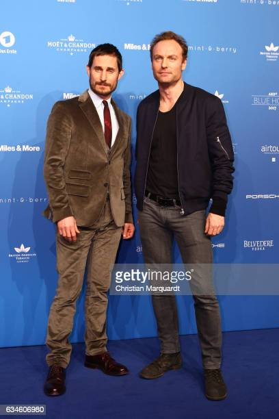 Clemens Schick and Mark Waschke attends the Blue Hour Reception hosted by ARD during the 67th Berlinale International Film Festival Berlin on...