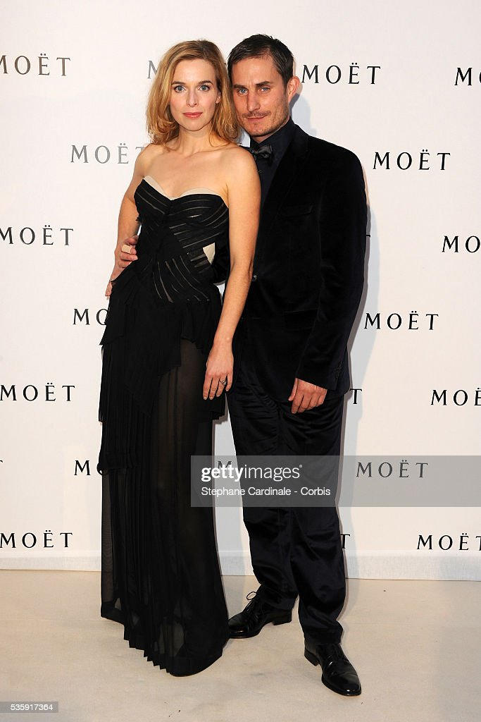 Clemens Schick and Thekla Reuten attend the Moet & Chandon Tribute to Heritage Event in Epernay.