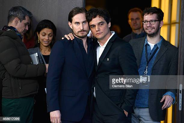 Clemens Schick and Wagner Moura attend the 'Praia do futuro' photocall during 64th Berlinale International Film Festival at Grand Hyatt Hotel on...