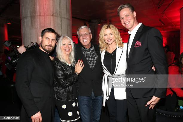 Clemens Schick Founder and CEO of Marc Cain Helmut Schlotterer and his wife Ute Schlotterer Veronica Ferres Urs Konstantin Rouette during the Marc...