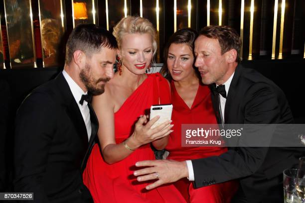 Clemens Schick Franziska Knuppe wearing a dress by Minx Cosima Lohse and Wotan Wilke Moehring during the aftershow party during the 24th Opera Gala...