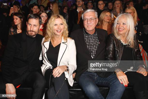 Clemens Schick Veronica Ferres Helmut Schlotterer and his wife Ute Schlotterer during the Marc Cain Fashion Show Berlin Autumn/Winter 2018 at metro...