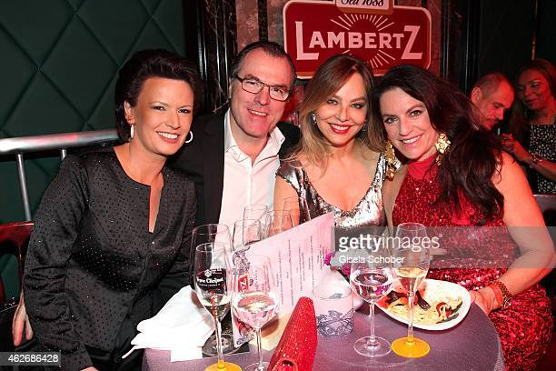 Clemens Toennies and his wife Margit, Ornella Muti, Christine Neubauer during the Lambertz Monday Night 2015 at Alter Wartesaal on February 2, 2015...