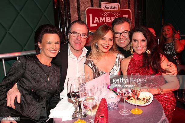 Clemens Toennies and his wife Margit, Ornella Muti, Reinhard Maetzler, Christine Neubauer during the Lambertz Monday Night 2015 at Alter Wartesaal on...