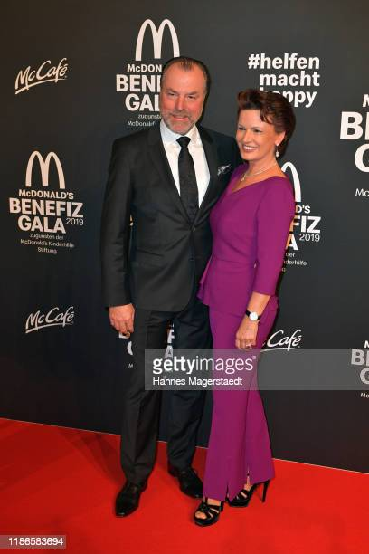 "Clemens Toennies and his wife Margit Toennies attend the ""Golden Society - Family & Friends"" Charity Gala by McDonald's at Hotel Bayerischer Hof on..."