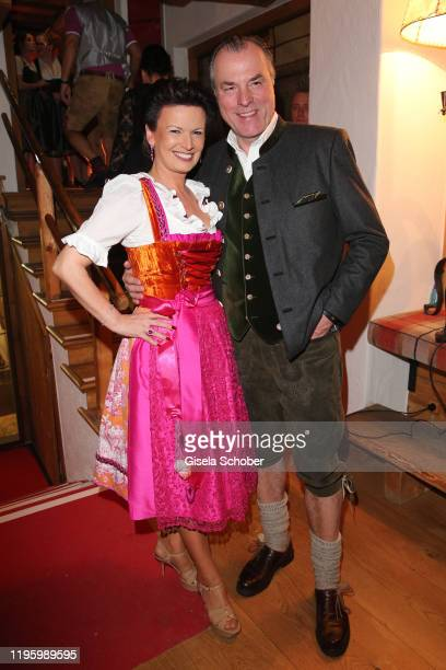 Clemens Toennies and his wife Margit Toennies during the 29th Weisswurstparty at Hotel Stanglwirt on January 24, 2020 in Going near Kitzbuehel,...