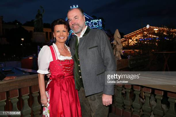 Clemens Toennies and his wife Margit Toennies during the Oktoberfest 2019 at Kaeferschaenke beer tent Theresienwiese on September 27, 2019 in Munich,...