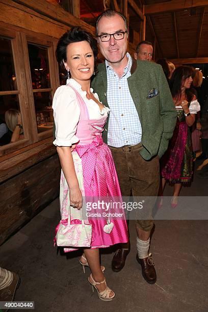 Clemens Toennies and his wife Margit Toennies during the Oktoberfest 2015 at Kaeferschaenke at Theresienwiese on September 25 2015 in Munich Germany
