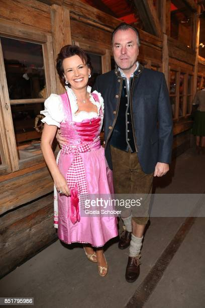 Clemens Toennies and his wife Margit Toennies during the Oktoberfest at Kaefer Schaenke Theresienwiese on September 22 2017 in Munich Germany